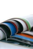 Opened magazines Stock Photography