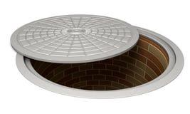 Opened manhole Stock Image