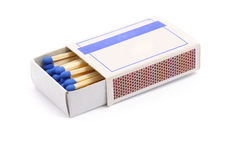 Opened matchbox. An opened matchbox isolated on a white background stock photography