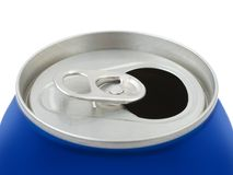 Opened metal can Stock Image