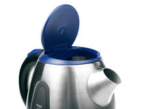 Opened metal electric kettle Stock Image