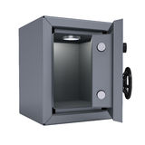 Opened metal safe Stock Photos