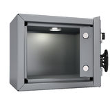 Opened metal safe Royalty Free Stock Photo