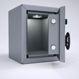 Opened metal safe Stock Photography