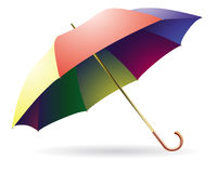 The opened multi-colored umbrella Royalty Free Stock Image