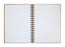 Opened note book Stock Image