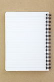 Opened note book Stock Photo