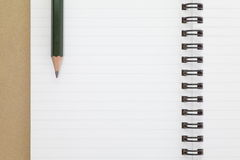 Opened note book Royalty Free Stock Photo