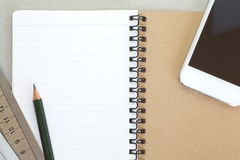 Opened note book Stock Photos