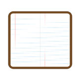 An opened note book with blank page Stock Photography