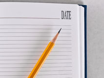 Opened notebook Stock Photography