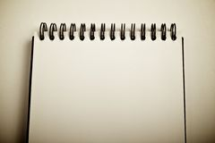 Opened notebook Royalty Free Stock Image