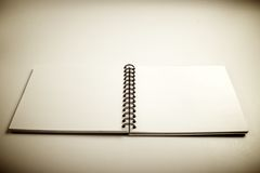 Opened notebook Stock Images