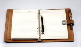 The opened notebook Royalty Free Stock Image