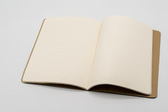 Opened notebook with blank pages isolated on white Stock Image