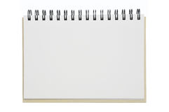 An opened notebook paper Stock Photo