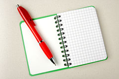 Opened notebook squared page Stock Photo