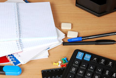 Opened notebook on the table Royalty Free Stock Photography