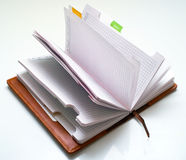 Opened notepad Stock Photos
