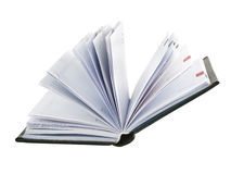 Opened notepad Royalty Free Stock Images