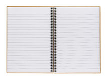 Opened notepad Stock Photography