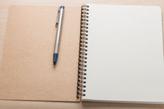 Opened notepad and pencil. Royalty Free Stock Photos