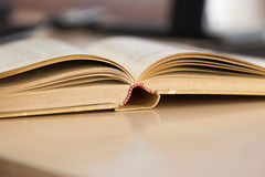 Opened old book. Shot of opened old book, shallow DOF Royalty Free Stock Photo