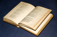 Opened old book Stock Images