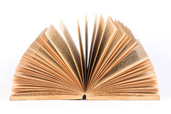 An opened old book on white background Royalty Free Stock Image