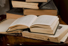 Opened old books Royalty Free Stock Images