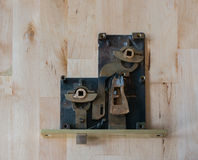 Opened Old Brass Lock Royalty Free Stock Images