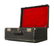 Opened old travel suitcase Royalty Free Stock Photos
