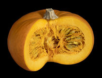 Opened orange pumpkin Stock Image