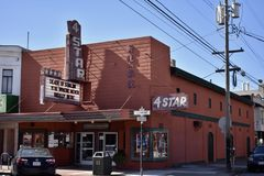 San Francisco`s historic 4Star theater, 1. stock images
