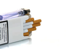 Opened pack of cigarettes Stock Image