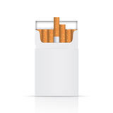 Opened pack of cigarettes Stock Photo