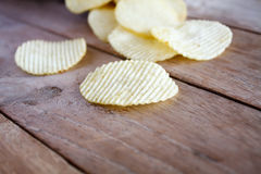 Opened pack with potato chips Stock Photography