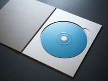 Opened package with blue ray disc Royalty Free Stock Photo