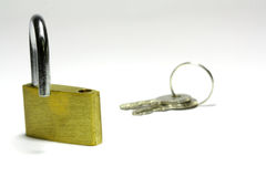 Opened padlock Royalty Free Stock Photos
