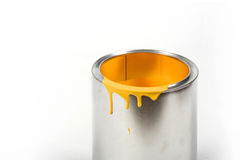 Opened paint bucket Royalty Free Stock Images