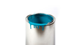 Opened paint bucket royalty free stock image