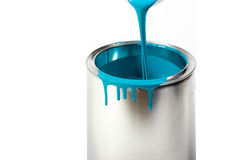 Opened paint bucket with dripping royalty free stock photos
