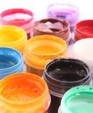 Opened paint buckets Royalty Free Stock Photos