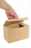 Opened paper box Royalty Free Stock Photography