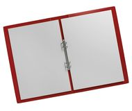 Opened paper folder Stock Image