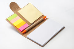 Opened paper notebook on the white background Royalty Free Stock Images
