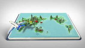 Opened passport, travel world tour concept 2. (included alpha&#x29 stock footage