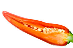 Opened pepper Stock Image