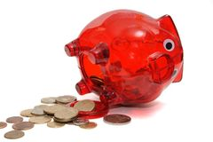 Opened piggy bank royalty free stock images