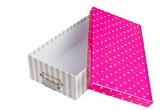 Opened pink box Royalty Free Stock Photography